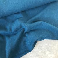 Tissu lin et viscose coloris pétrole 20 x 130 cm