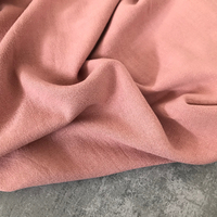 Tissu lin et viscose coloris blush 20 x 130 cm