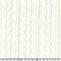 Sweat torsadé coloris blanc cassé 20 x 145 cm