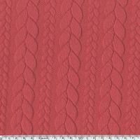 Sweat torsadé coloris blush foncé 20 x 145 cm