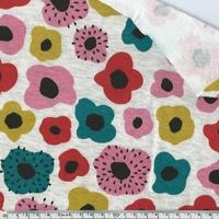 Tissu molleton Fleurs envers minky 20 x 140 cm