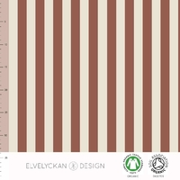 Jersey Rayures verticales Rusty et Crème 20 x 160 cm