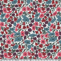 Liberty Poppy and Daisy fruits rouge et ardoise coloris P 20 x 137 cm