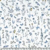 Liberty Theo bleu et moutarde coloris F 20 x 137 cm