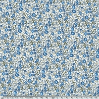 Liberty Eloïse bleu et kaki coloris  20 x 137 cm