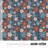 Tissu Miniflora Blue 20 x 160 cm
