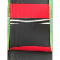 Panneau jersey 25 cm rouge / 10 cm rayé / 38 cm marine x 145 cm de laize