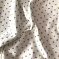Jersey pois or fond blanc 20 x 150 cm