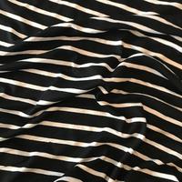 Jersey rayé noir et blanc 20 x 170 cm