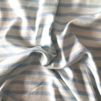 Maille polo bleu clair et blanc cassé 20 x 150 cm