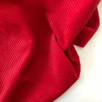 Velours grosses côtes rouge 20 x 140 cm