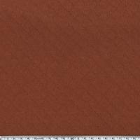 Jersey matelassé 100% coton coloris rouille 20 x 145 cm