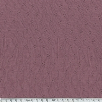 Tissu jersey ajouré 100% coton coloris bruyère  20 x 140 cm