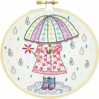 Kit à broder Emilie aime la pluie