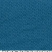 Jersey matelassé bleu 20 x 140 cm