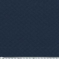 Jersey matelassé marine 20 x 140 cm