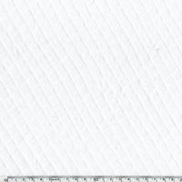 Jersey matelassé 100% coton coloris blanc 20 x 145 cm