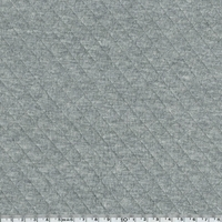 Jersey matelassé 100% coton coloris gris moyen chiné 20 x 145 cm