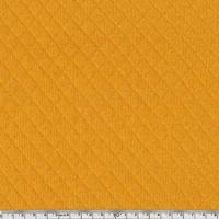Jersey matelassé 100% coton coloris carrot cake 20 x 145 cm
