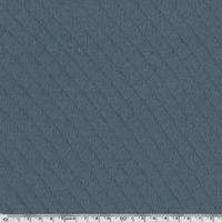 Jersey matelassé 100% coton coloris acier 20 x 145 cm