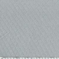 Jersey matelassé 100% coton coloris gris clair 20 x 145 cm