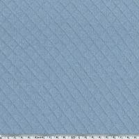Jersey matelassé 100% coton coloris bleu clair 20 x 145 cm