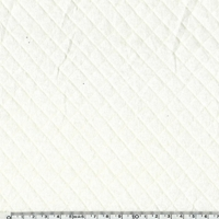 Jersey matelassé 100% coton coloris écru 20 x 145 cm