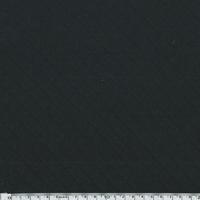 Jersey matelassé 100% coton coloris noir 20 x 145 cm