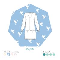 Patron robe ou top Magritte (du 34 au 46)