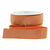 Elastique luxe orange lurex doré 40mm x 10cm