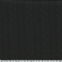 DERNIER COUPON de Sweat torsadé coloris noir 1m85 x 145 cm