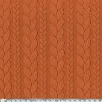 DERNIER COUPON de Sweat torsadé coloris potiron 1m60 x 145 cm