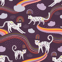 Tissu Kushukuru Rainbow Jaguar 20 x 110 cm