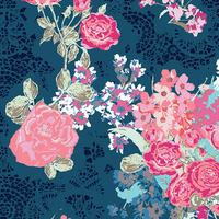 Tissu Voile de coton Nisi Flora Oceanon 20 x 132 cm