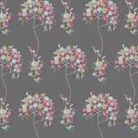 Tissu Voile de coton Tree Fleur Sombre 20 x 132 cm