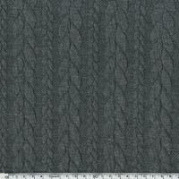 Sweat torsadé coloris gris chiné foncé 20 x 145 cm