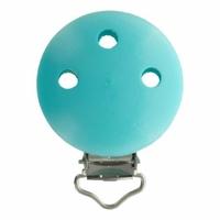 Clip bois pour attache tétine 37x11,5mm coloris turquoise