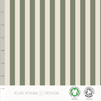 DERNIER COUPON de Jersey Rayures verticales Green et Crème 1m30 x 160 cm