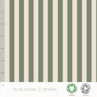 Jersey Rayures verticales Green et Crème 20 x 160 cm