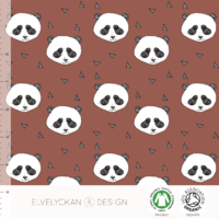 Jersey Panda coloris Rusty 20 x 160 cm
