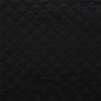 Double gaze matelassée coloris noir 20 x 130 cm