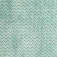 Jersey velours 'minky wave' menthe 20x140 cm