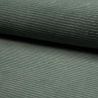 Jersey velours eucalyptus 20 x 150 cm