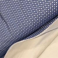 Jersey double Là-Haut bleu 20 x 140 cm