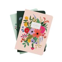 Set de 3 cahiers Garden Party avec couverture en tissu