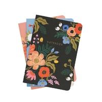 Set de 3 cahiers Lively Floral avec couverture en tissu