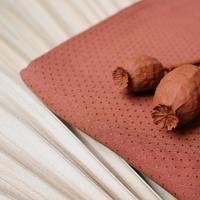 Viscose plumetis Dobby Chestnut 20 x 140 cm