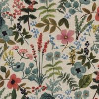 Tissu lin/coton Herb Garden Natural 20 x 110 cm
