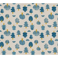 Tissu Neko and Tori bleu 20 x 110 cm