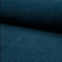 Jersey velours pétrole 20 x 150 cm